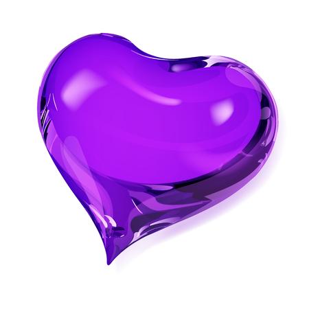 opaque: Big opaque heart in violet colors