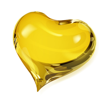 Big opaque heart in yellow colors
