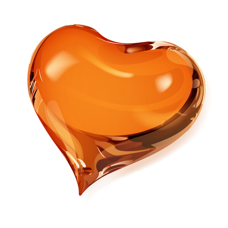 opaque: Big opaque heart in orange colors