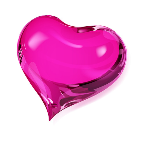 opaque: Big opaque heart in pink colors