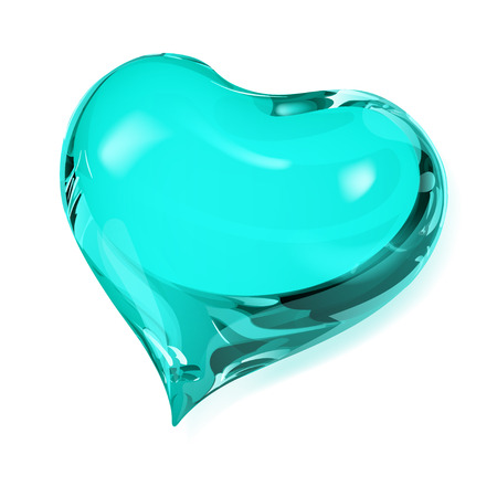 opaque: Big opaque heart in turquoise colors