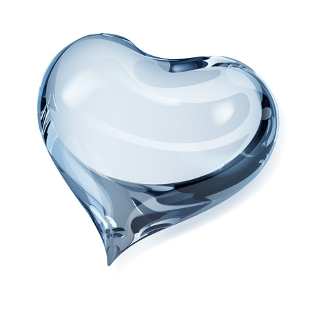 opaque: Big opaque heart in light blue colors