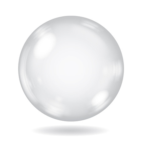 opaque: Big white opaque sphere with glares and shadow on white background Illustration