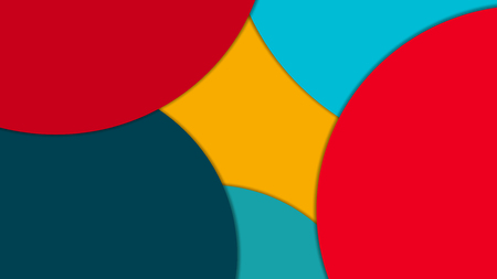 modern material: Modern material design background of circles with shadows