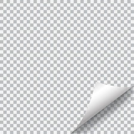 curled corner: Curled corner of paper with shadow on transparent background. Transparency only in vector format Illustration