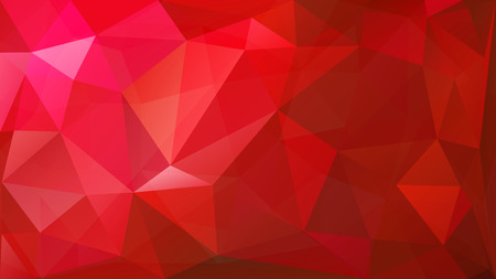 Abstract low poly background of triangles in red colors