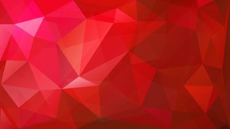 Abstracte laag poly achtergrond van de driehoeken in rode kleuren