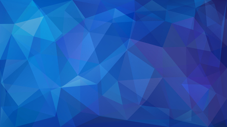 Abstract low poly background of triangles in blue colors Vettoriali