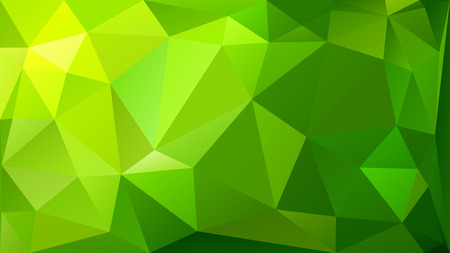 Abstract low poly background of triangles in green colors