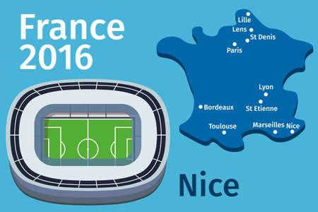 nice france: Flat Stadium Nice city France Football Championship 2016