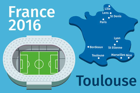 toulouse: Flat Stadium Toulouse city France Football Championship 2016