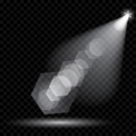 Vektor-Strahler. Die Beleuchtung der Szene. Transparente Lichteffekten. Transparenz nur im Vektorformat