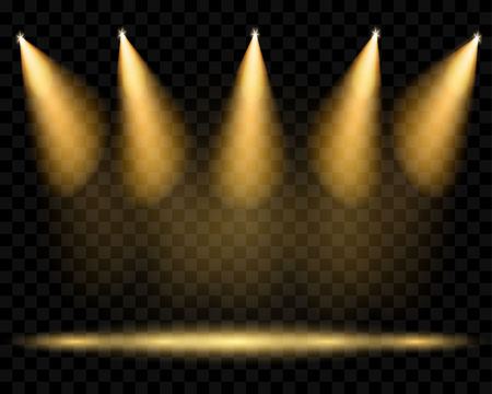 Vector spotlights. Belichting van de scène. Transparant lichteffecten. Transparantie alleen in vector-formaat