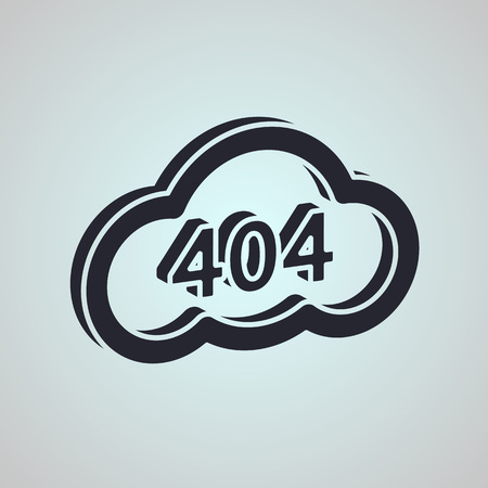 not found: Concept page 404. Design 404 error. Illustration error page not found. Negative space style. black and white icon 404
