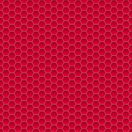 Modèle sans couture de petits hexagones en couleurs rouges