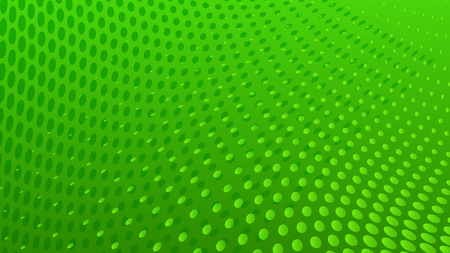 Abstract halftone dots background in green colors Ilustração