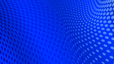 Abstract halftone dots background in blue colors