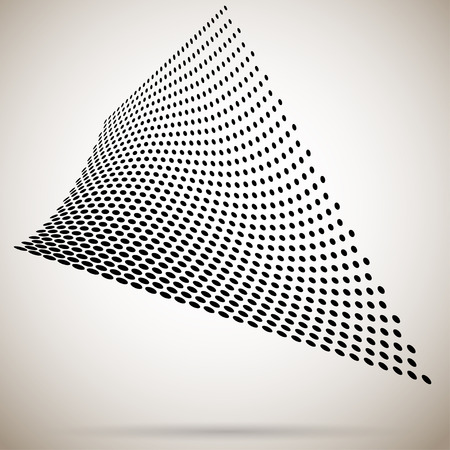 shadow: Abstract halftone dots with shadow Illustration