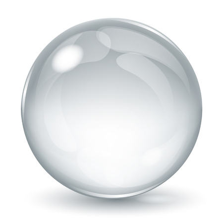 opaque: Big opaque sphere with glares and shadow on white background