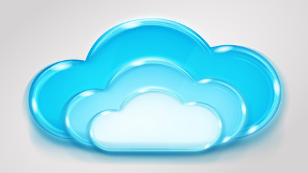 multilayered: Glass multilayered cloud in light blue colors