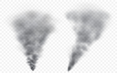translucent: Translucent gray smoke. Transparency only in vector file Illustration
