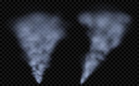 translucent: Translucent blue smoke. Transparency only in vector file Illustration