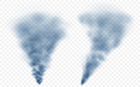 translucent: Translucent light blue smoke. Transparency only in vector file