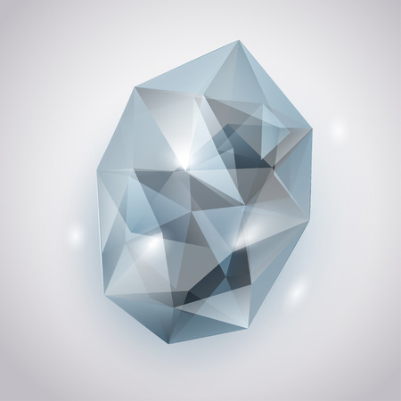 emerald gemstone: Light blue crystal with glares and shadows