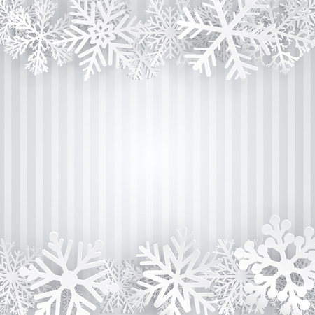 gray strip backdrop: Striped background in gray colors with white snowflakes