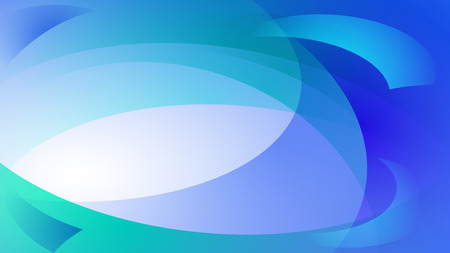 Abstract background of curved lines in blue colors Illustration