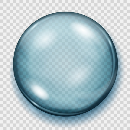 Big transparent light blue sphere with shadow