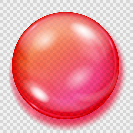 Big transparent red sphere with shadow Illustration