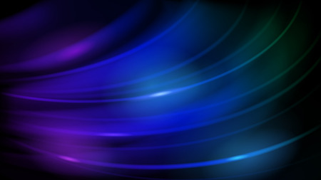 Abstract background of curved lines with glares in blue and purple colors Ilustrace