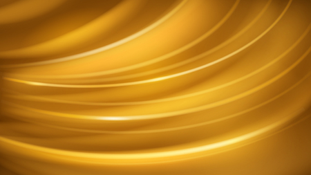Abstract background of curved lines with glares in yellow color