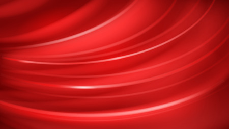 Abstract background of curved lines with glares in red color