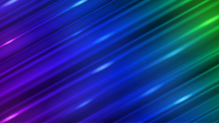 Abstract background of straight inclined lines with glares in blue color