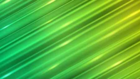 Abstract background of straight inclined lines with glares in green colors