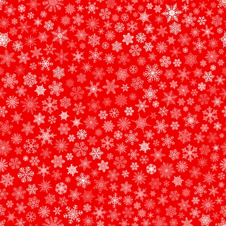 Christmas seamless pattern of small snowflakes, white on red