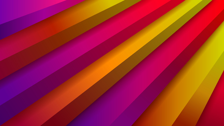 Abstract background with volumetric stair in red, purple and yellow colors