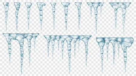 ensemble de translucide lumière bleue clair sur fond transparent . transparence facile dans le fichier vectoriel Vecteurs