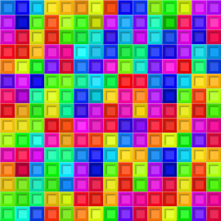 Abstract background or seamless pattern of colored tiles with square holes