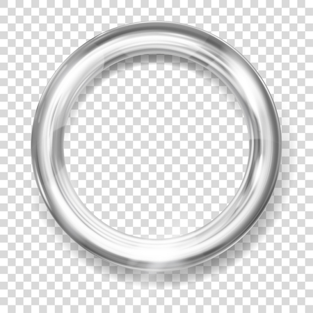 Big silver metallic ring with glares and shadow