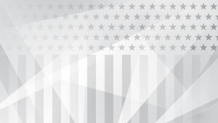 Fondo abstracto del día de la independencia con elementos de la bandera estadounidense en colores grises