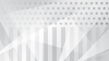 Independence day abstract background with elements of the American flag in gray colors Illustration