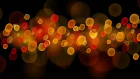 Abstract background with bokeh effects in red and orange colors