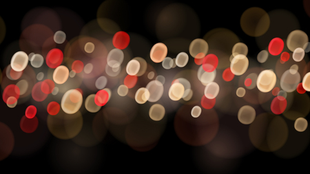 Abstract background with bokeh effects in red, beige and brown colors
