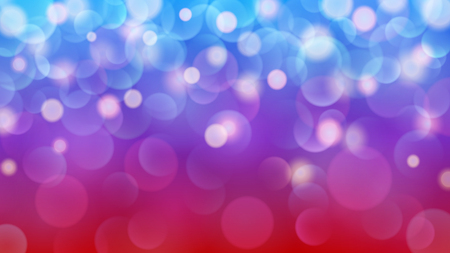 Abstract light background with bokeh effects in red, purple and blue colors