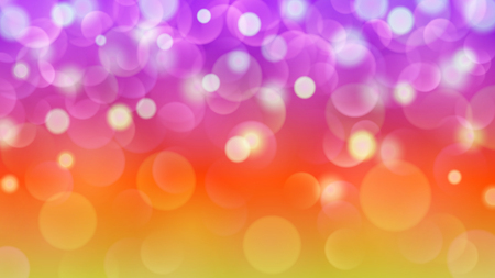 Abstract light background with bokeh effects in purple, red and yellow colors