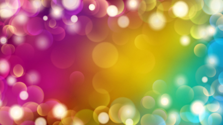 Abstract light background with bokeh effects in purple, yellow and blue colors