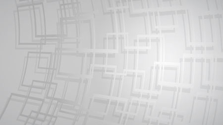 Abstract background of dark red intersecting squares with shadows in gray colors